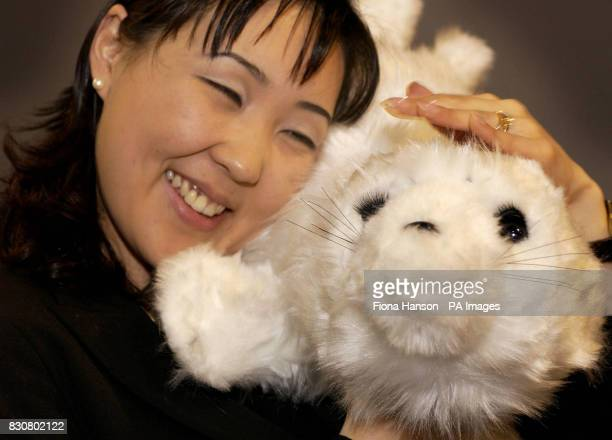 Paro, a robotic seal, is demonstrated at the Japan: Gateway To The Future exhibition, which opens at the Science Museum in London. Many of the...