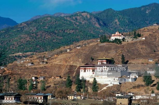 Paro Dzong and ancient watchtower Paro Bhutan