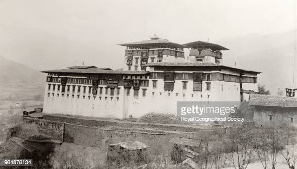 Paro Jong taken from the southeast Built in 1646 the 'Paro Dzong' stands in the beautiful Paro Valley on the foundations of an old monastery This...