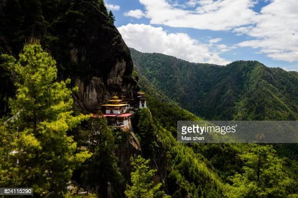 Paro Taktsang Monastery on the cliff, Bhutan.