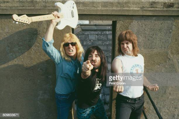 Parody English heavy metal band Spinal Tap LR Michael McKean Harry Shearer and Christopher Guest 1984