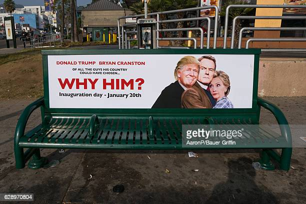 Parody posters of Donald Trump are seen on Sunset Blvd in Hollywood by artist Sabo on December 10 2016 in Los Angeles California