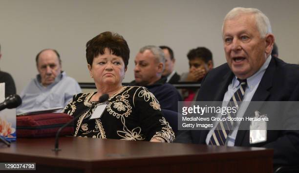 . Parole board hearing for Norman Porter, a convict who escaped for 20 years and arrested in 2005 in Chicago. Doris 'Dottie' Johnson listens to...