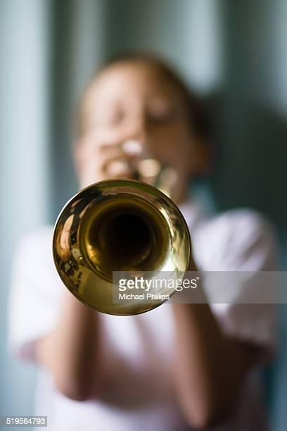 parp! - トランペット奏者 ストックフォトと画像