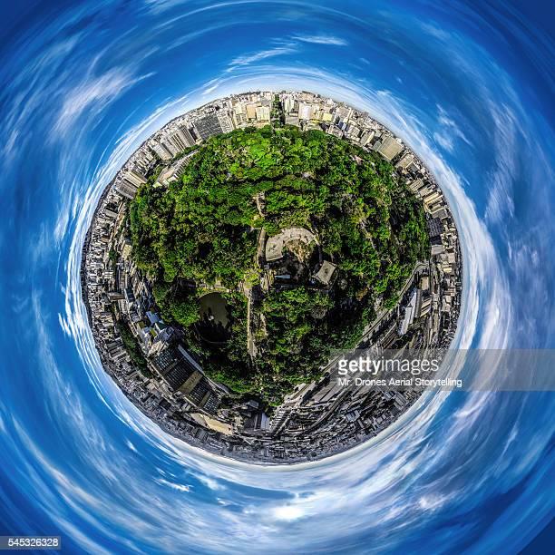 parque municipal tiny planet - as américas - fotografias e filmes do acervo