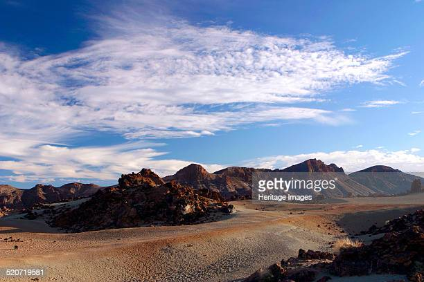 Parque Nacional del Teide Tenerife Canary Islands 2007 Volcanic scenery in the national park surrounding Mount Teide