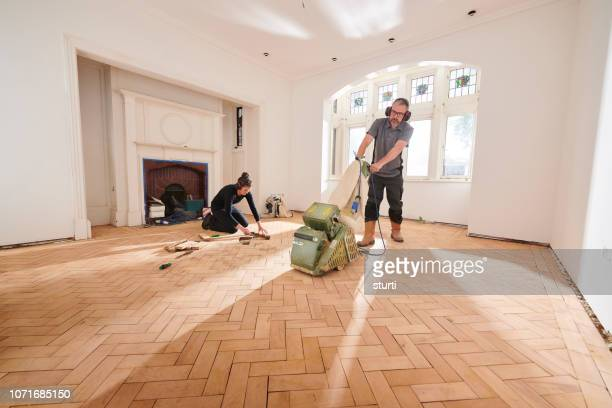 parquet floor sanding - reform stock pictures, royalty-free photos & images