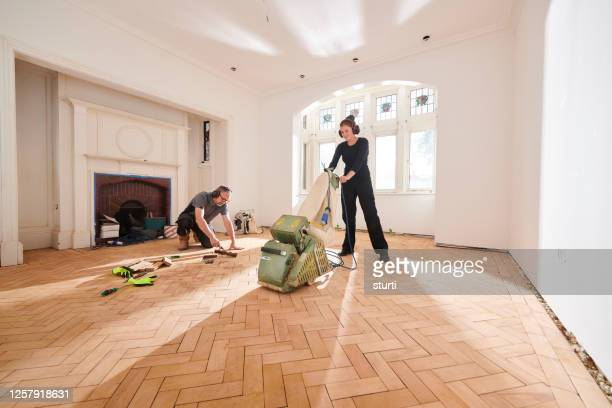 parquet floor sanding - sand stock pictures, royalty-free photos & images