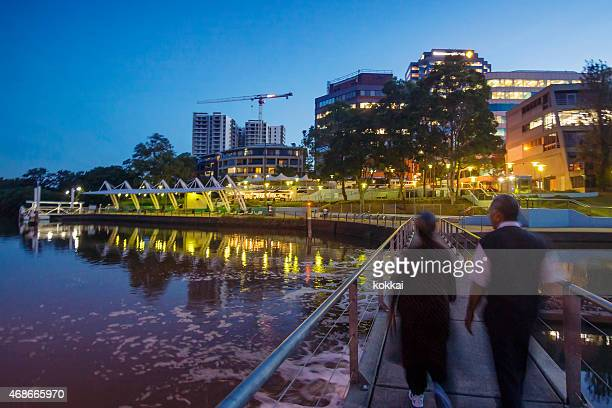 parramatta at dusk - west direction stock pictures, royalty-free photos & images