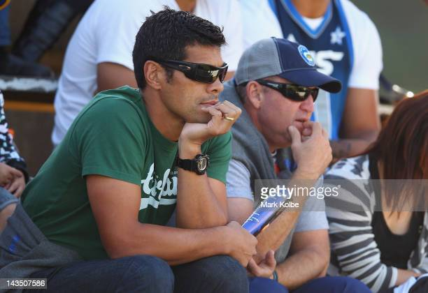 Parramatta Eels coach Stephen Kearney watches on as Chris Sandow plays for the Wentworthville Magpies during the round nine NSW Cup match between the...