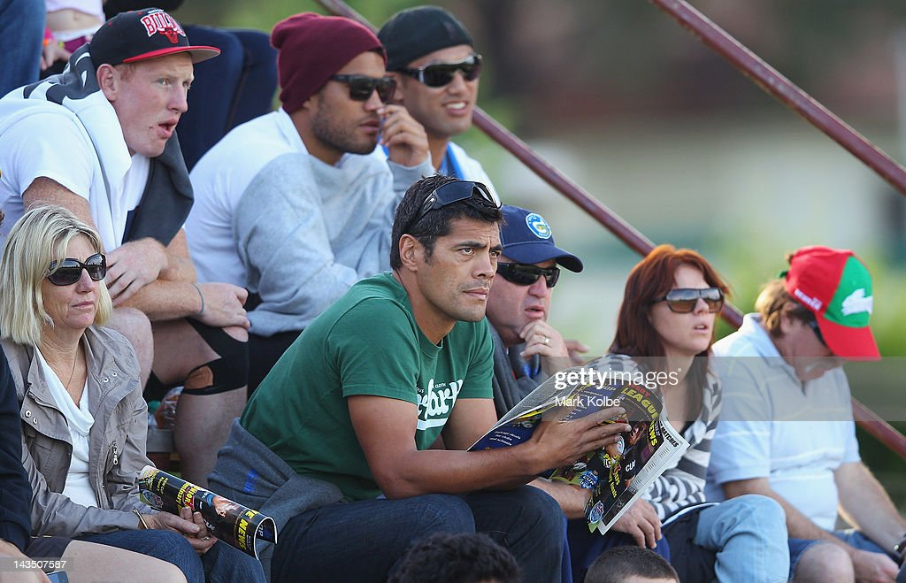 Parramatta Eels coach Stephen Kearney watches on as Chris Sandow plays for the Wentworthville Magpies during the round nine NSW Cup match between the Wentworthville Magpies and the Auckland Vulcans at Ringrose Park on April 28, 2012 in Sydney, Australia. Sandow who was recruited by the Parramatta Eels was dropped from the NRL side for this weekend's match against the Wests Tigers.