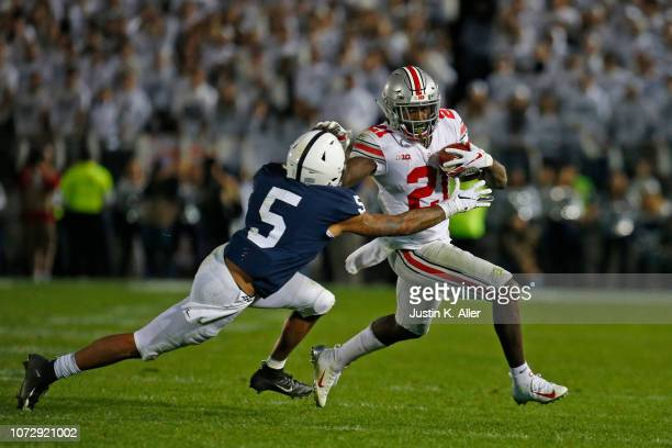 Parris Campbell of the Ohio State Buckeyes in action against the Penn State Nittany Lions on September 29 2018 at Beaver Stadium in State College...