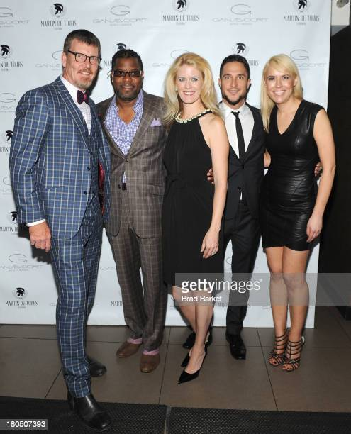 Parrish Arnaldy Simon van Kempen Alex McCordAnton Dovbrosevic and Tamara York attend the Martin de Tours Clothier Fashion Presentation at Gansevoort...