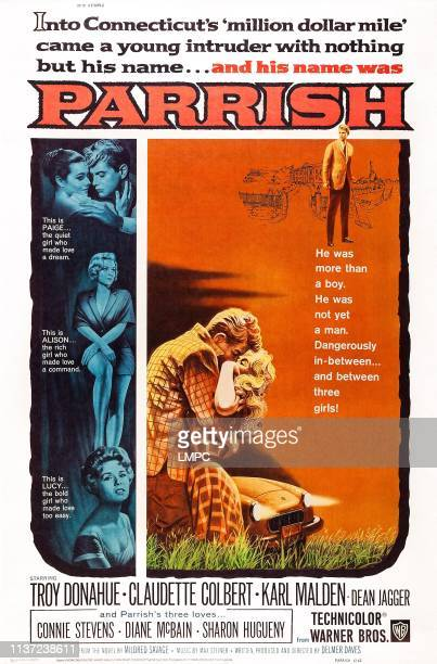 Parrish poster US poster art left from top Sharon Hugueny Troy Donahue Diane McBain Connie Stevens 1961