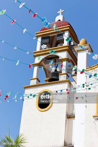 parroquia de nuestra senora guadalupe, la crucecita, oaxaca, mexico - oaxaca stock photos and pictures
