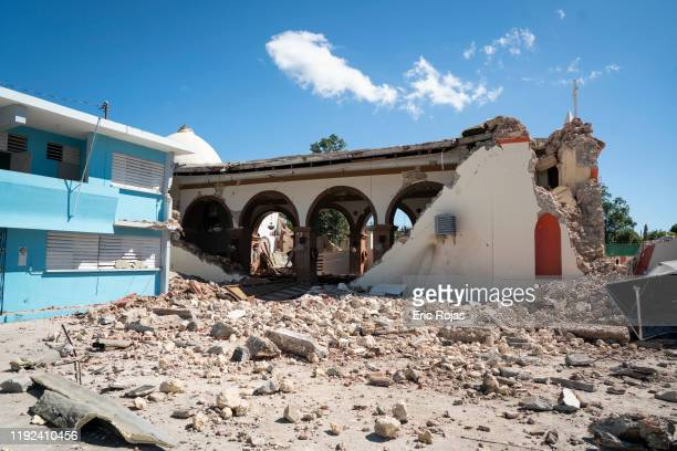 Parroquia Inmaculada Concepción church was heavily damaged after a 64 earthquake hit just south of the island on January 7 2020 in Guayanilla Puerto...