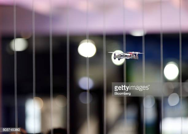 A Parrot SA MiniDrone is demonstrated during the 2016 Consumer Electronics Show in Las Vegas Nevada US on Wednesday Jan 6 2016 CES is expected to...