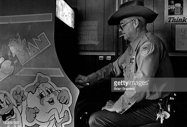 JUL 16 1982 JUL 18 1982 Parrott Don Ind Parrott likes to spend the afternoon in his wife's bar the Artesia playing his favorite game Ms PacMan