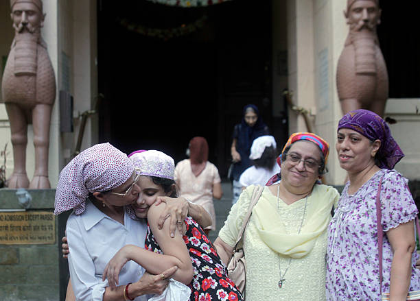 parsis exchange new years greetings with one another by saying sal mubarak at a fire temple