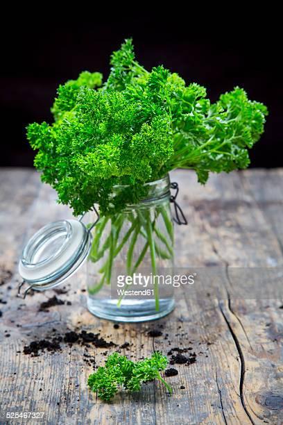 Parsley in jar
