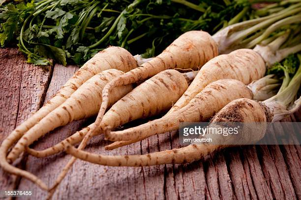parsley root with greens