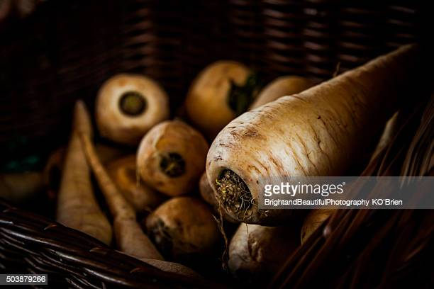 Parsnips in a Basket