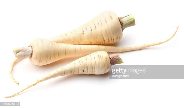 Parsnips Isolated on White