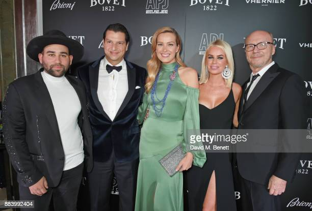 Parson James Alejandro Grimaldi Petra Nemcova Caroline Stanbury and Paul Haggis attend the BOVET 1822 Brilliant is Beautiful Gala benefitting Artists...