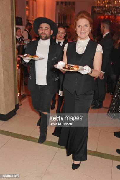 Parson James and Sarah Ferguson Duchess of York serve dinner at the BOVET 1822 Brilliant is Beautiful Gala benefitting Artists for Peace and...