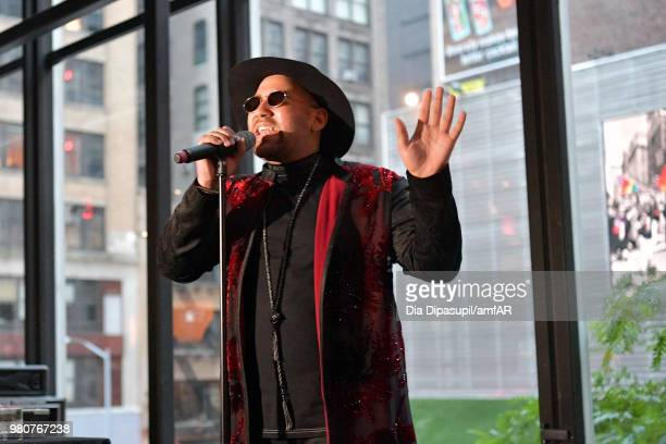 Parson James performs at the amfAR GenCure Solstice 2018 on June 21 2018 in New York City