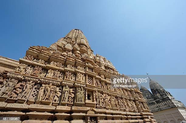 Parsvanatha Temple one of the Khajuraho group of monuments a part of UNESCO World Heritage Sites at Khajuraho