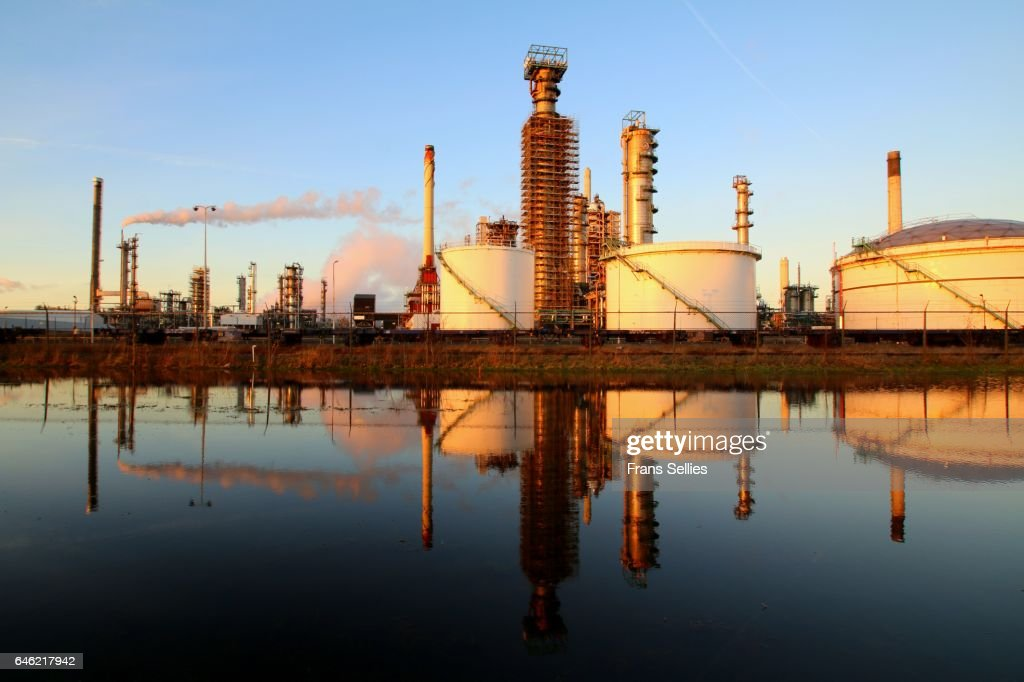 Part of a big refinery near Rotterdam, The Netherlands : Stockfoto