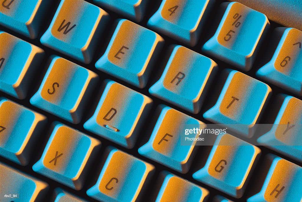 part of a computer keyboard filled with numbers and letters : Foto de stock