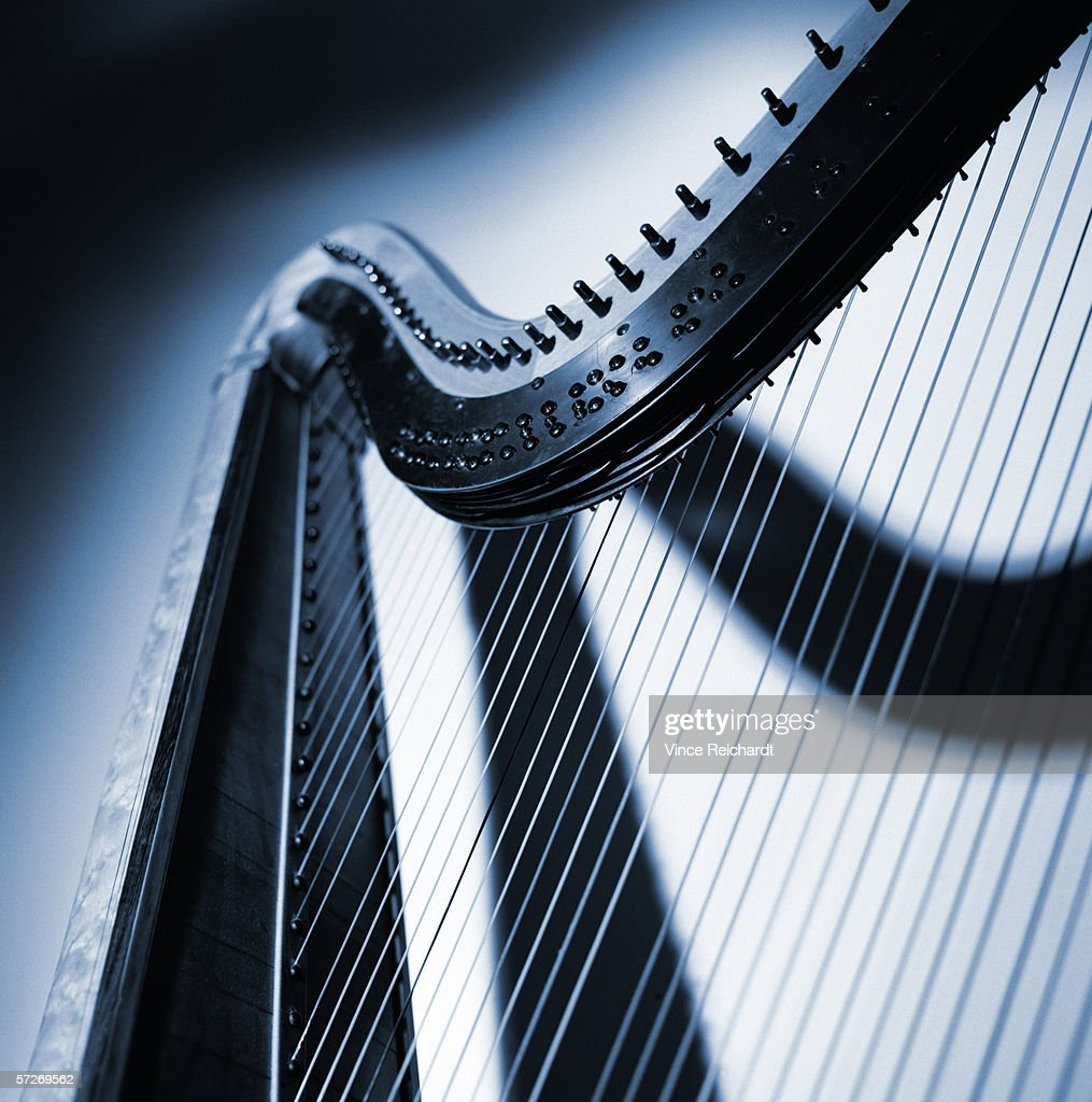 A part of a harp, close-up. : Stock Photo