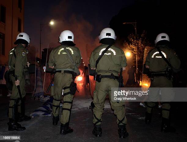 Part of a masssive police operation designed to protect the prime minister of Greece during his visit to the northern port city of Thessaloniki....