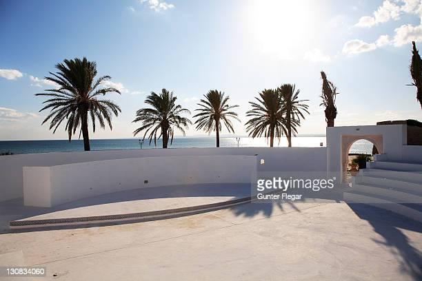 Part of a modern amphitheater in Hammamet Yasmine, Tunisia