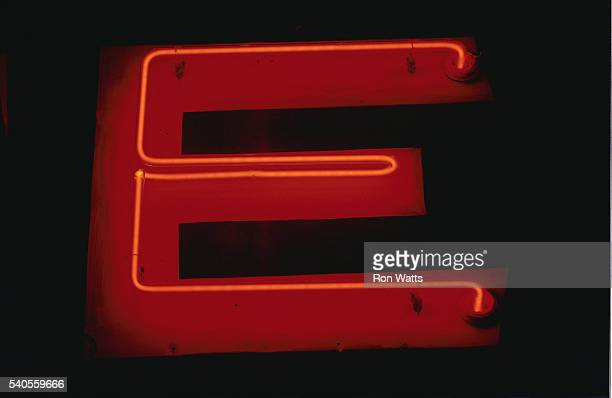Part of a Motel Neon Sign
