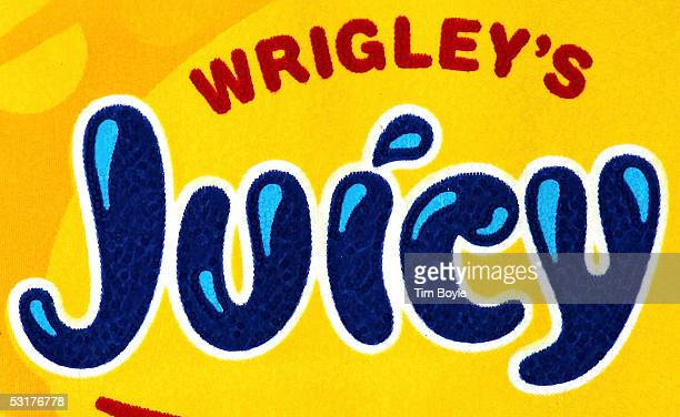 Part of a package of Wrigley's Juicy Fruit chewing gum is photographed June 30 2005 in Des Plaines Illinois Chicagobased Wm Wrigley Jr has said it...
