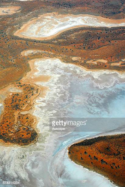 Part of a salt lake from the air Great Sandy Desert Northern Territory Australia