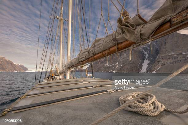 Part of a three mast schooner ship, Scoresbysund, Greenland