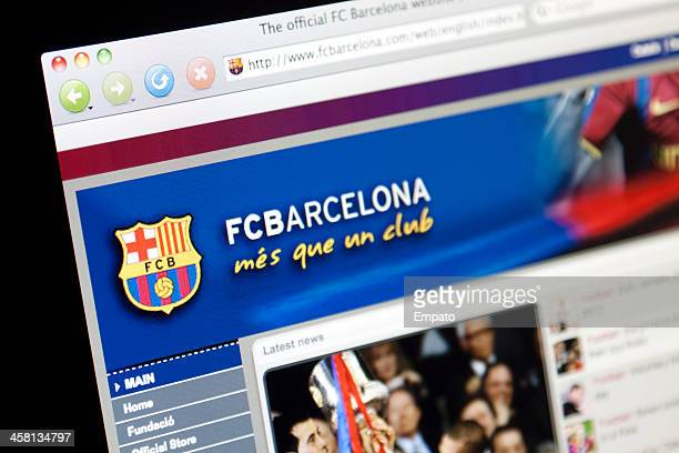 Part of Barcelona Football Club Website.
