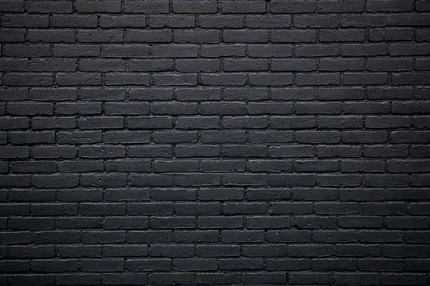 Texture Background Part Of Black Painted Brick Wall