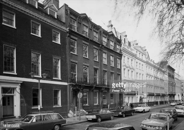 Part of Bloomsbury Square London 19th February 1970 On the far left is number 6 home of writer Isaac D'Israeli and his son the future Prime Minister...