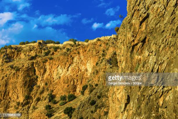 Part Of Castle Wall On Hill In Alanya