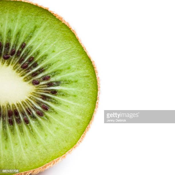 Part of halved kiwi fruit