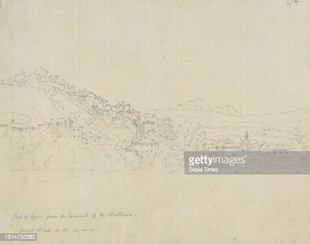 Part of Lyons From the Convent of the Chartreux, Mont Blanc in the Distance, Sir Robert Smirke the younger, 1781–1867, British, 1802-1804, Graphite...