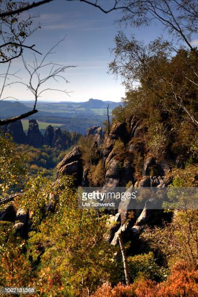 Part of Malerweg, Painter's Way hiking trail, Saxon Switzerland, Saxony, Germany