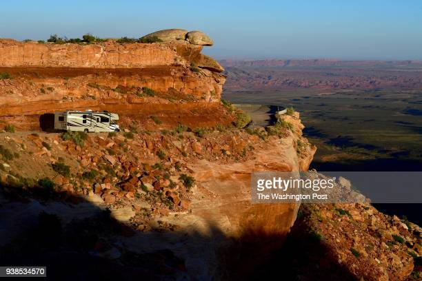 Part of State Route 261 is the Moki Dugway a steep threemile graded dirt switchback road that is carved into the cliff edge of Cedar Mesa in Bears...