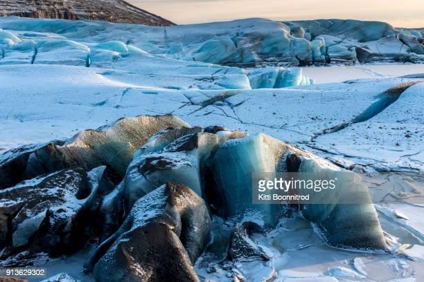 Part of Svinafellsjokull glacier in Vatnajokull national park, Iceland