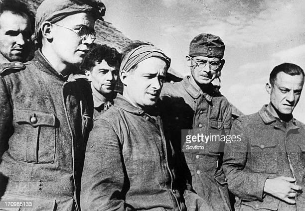 Part of the 1943 summer harvest of germans, nazi prisoners.